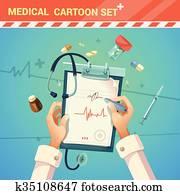 Medicine Cartoon Illustration