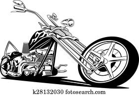 sitte, amerikanisch, zerhacker, motorrad