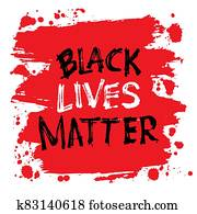 Black lives matter. Lettering. Can be used for prints bags, t-shirts, posters, cards. Support for equal rights of black people.
