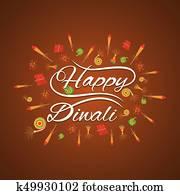 happy diwali card design