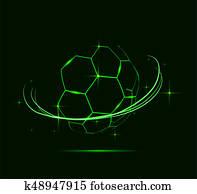 Lines of soccer ball.