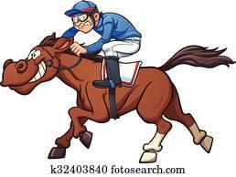 rennen, pferd