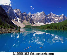 Blue Lake in the Mountains