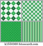 Four St. Patricks Day Patterns