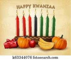 kwanzaa holiday background with old paper