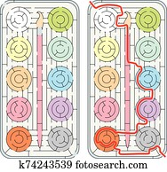 Water colors maze
