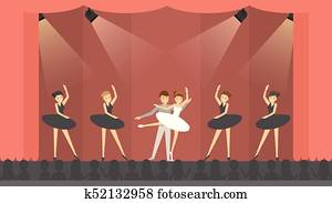 Ballet in theater.