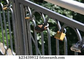 bridge with many locks