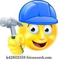 Handy Man Carpenter Builder Emoji Emoticon