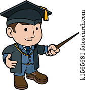 Illustration of professor
