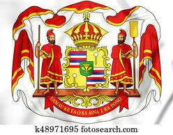 Royal Coat of Arms of Hawaii.