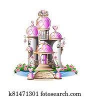 magic pink castle