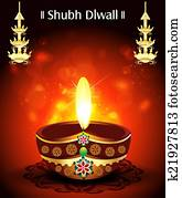 Shubh diwali Deepak Background