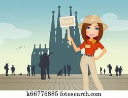 tourist guide in Barcelona