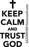 behalten, gelassen, und, vertrauen, gott