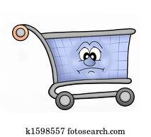Shoping cart sad