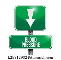 blood pressure down concept illustration design
