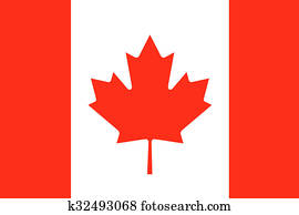 Canada flag illustration of country