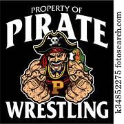 pirate wrestling
