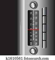 AM FM Car Dashboard Radio Drive Time