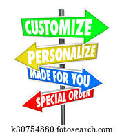 Customize Personalize Made for You Special Order Signs