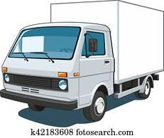 kommerziell, lastwagen