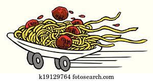 schnellessen, spaghetti
