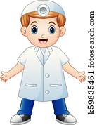 Smiling dentist cartoon