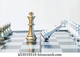 Checkmate business or political concept