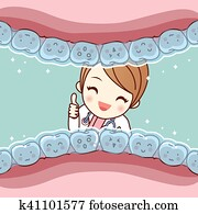 cute cartoon tooth invisible braces