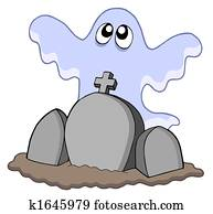 Ghost with graves