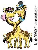 Giraffes wedding 2