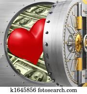 Heart In Bank Vault