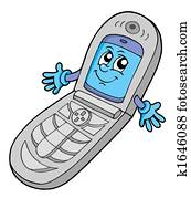 V cell phone open