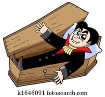 Vampire in coffin