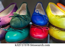 Colorful female shoes