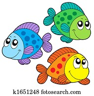 Cute color fishes