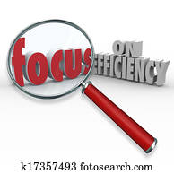 Focus on Efficiency Magnifying Glass Searching Effective Ideas