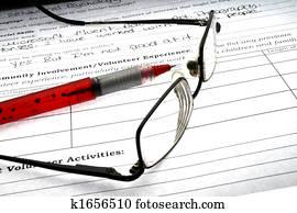 Pen paper eyeglasses
