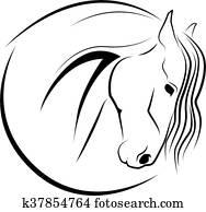 pferdekopf, -, vektor