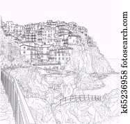 Sketch of Italian Liguria