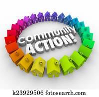 Community Action Words Neighborhood Homes Coalition Group