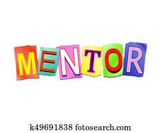 Mentor word concept.