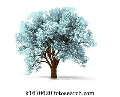 3d wintry tree