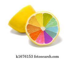 Coloured lemon