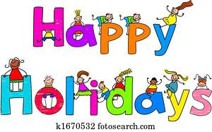 happy holidays illustrations and clip art 124 408 happy holidays rh fotosearch com holiday clipart pictures holiday clipart photos