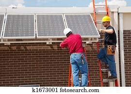 installation, panneaux solaires