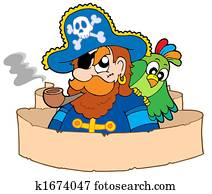 Pirate with parchment