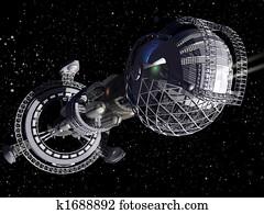 3D interstellar spaceship