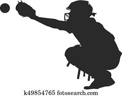 clipart of baseball runner sliding for base k7784271